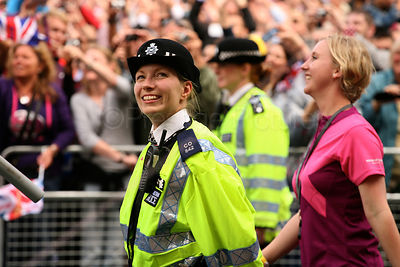 Female Police Officers at the GBR Athletes Parade Through the Streets of London