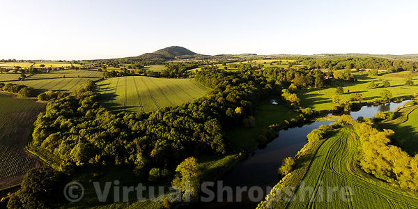 River Severn and The Wrekin (Panorama)