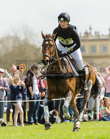 Elizabeth Power and SEPTEMBER BLISS - Cross Country - Mitsubishi Motors Badminton Horse Trials 2013.