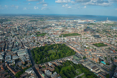 Aerial view of St Stephens Green, Dublin, Ireland