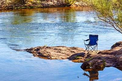 Empty Chair on Salt River Bank