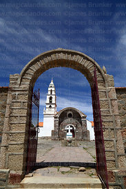 Entrance to Sanctuary of the Señor de Quillacas, Quillacas, Oruro Department, Bolivia
