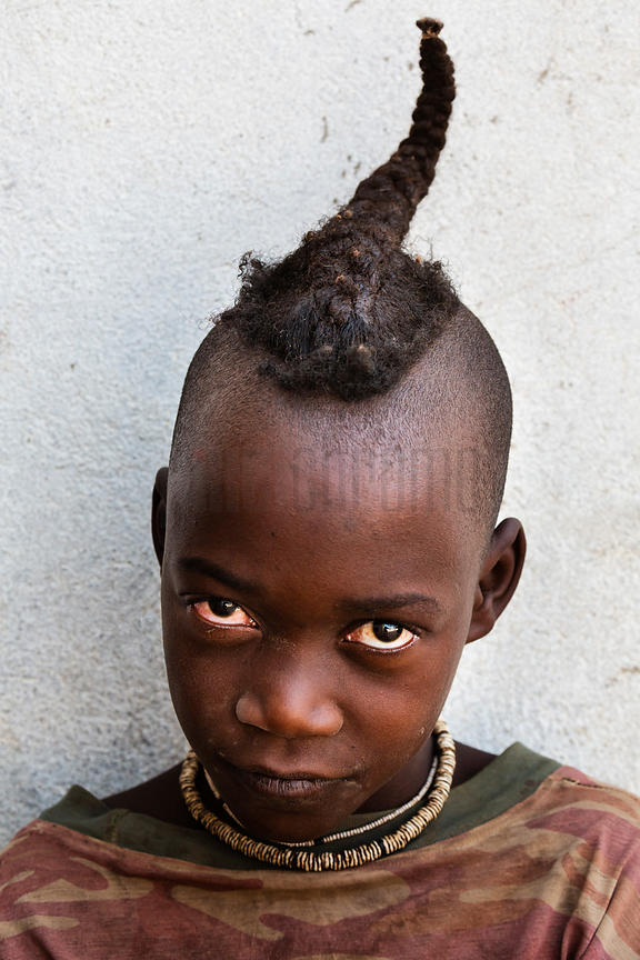 Portrait of a Young Himba Boy