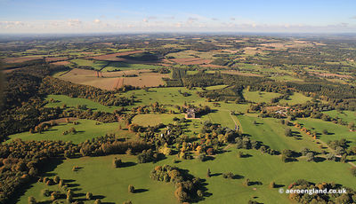 aerial photograph of Highclere Castle Hampshire   England UK