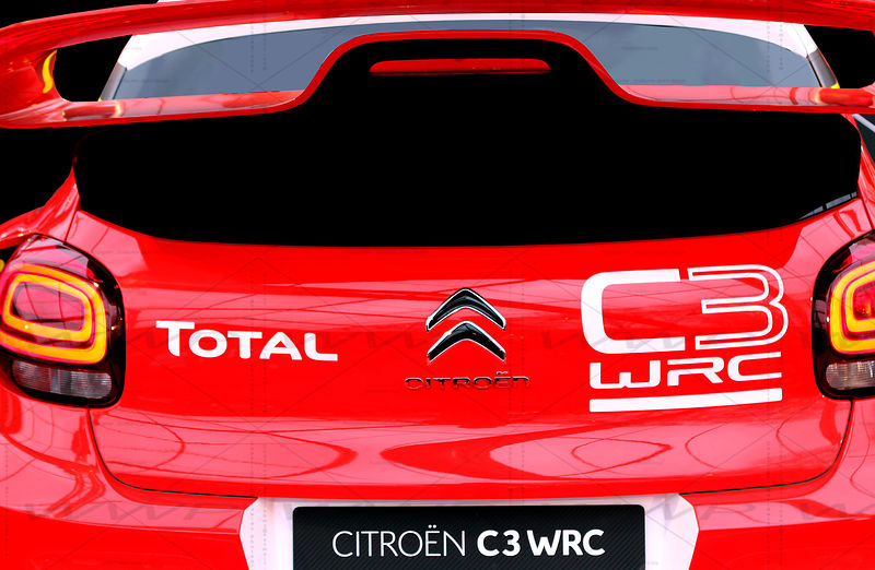 Citroen C3 WRC Rallye Race car