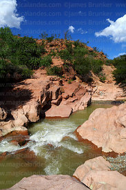 Waterfall and River Chico in Colorado Canyon near Villa Abecia, Chuquisaca Department, Bolivia