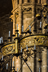 Saint Etienne cathedral's chandelier, Bourges