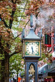 Steam clock, Gastown, Vancouver, British Columbia, Canada