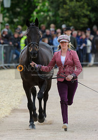 Nicola Wilson and ANNIE CLOVER - First Horse Inspection, Mitsubishi Motors Badminton Horse Trials 2014