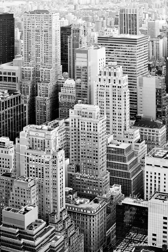 Manhattan new york city black and white vertical