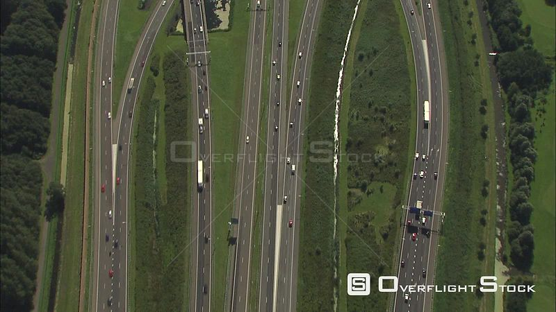 Busy Highway near The Haag Netherlands