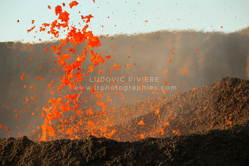 Explosion de lave, Eruption 2017