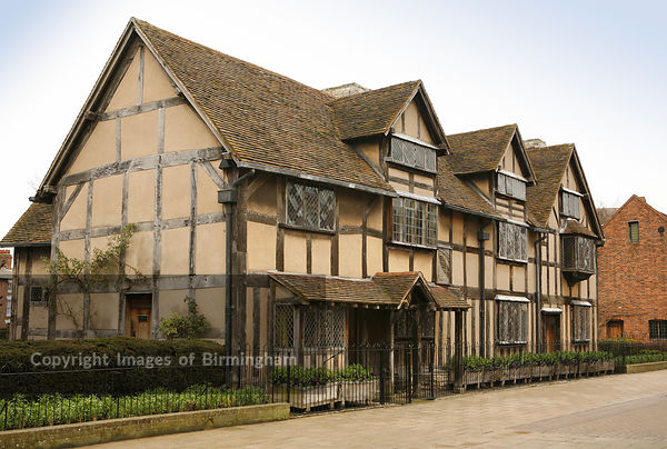 The birthplace of William Shakespeare (1564 - 1616), Stratford, Warwickshire, England.