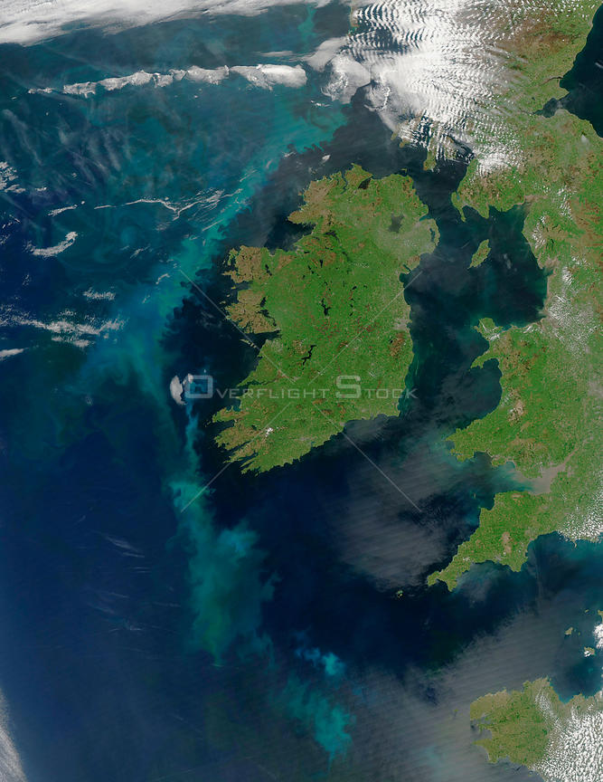 EARTH Western Europe -- 2005 -- This MODIS image features the whole of the Republic of Ireland and parts of the United Kingdom of Great Britain and Northern Ireland.
