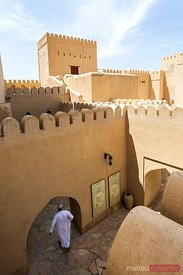 Oman, Nizwa. Internal courtyard of Nizwa fort