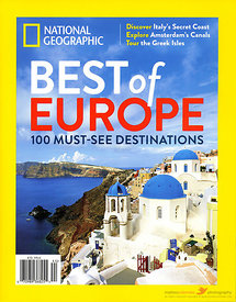 National geographic Best of Europe cover