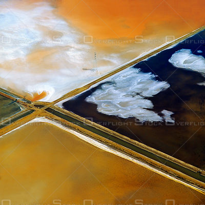 Cargill Salt Ponds San Francisco Bay California Art Print