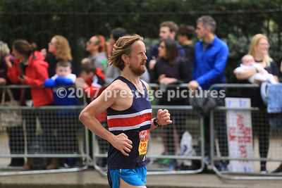 Man running in the London Marathon