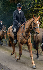 Nick Townsend leaving the Cottesmore Hunt meet at Little Dalby Hall