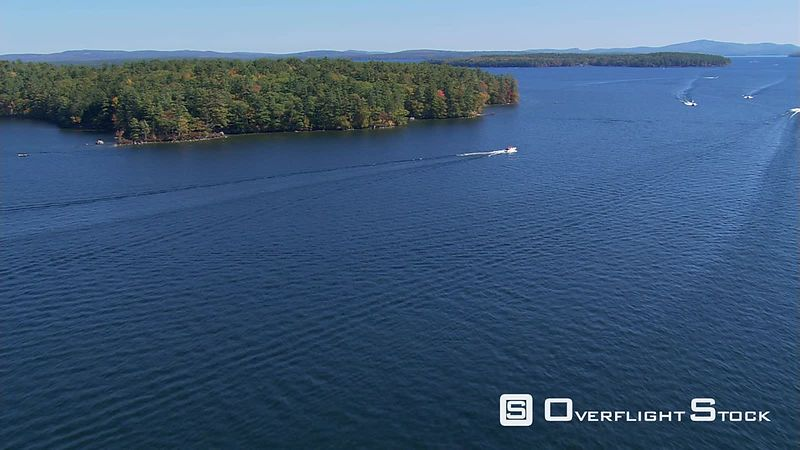 Flying over New Hampshire's Lake Winnipesaukee