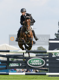 Tom Crisp and COOLYS LUXURY - show jumping phase, Burghley Horse Trials 2014.