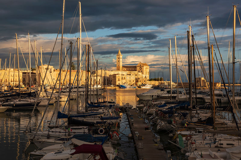 The Yacht Marina at Trani at Sunrise