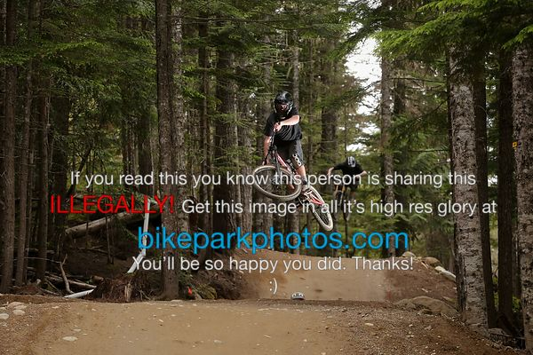 Monday 2nd July - ALine Double bike park photos