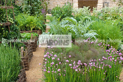 Mini potager, Paysagiste : Del Buono Gazerwitz (Spencer Fung Architects). CFS. Angleterre