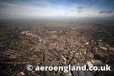 aerial photograph of Derby Derbyshire