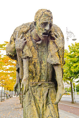 Famine Memorial, Man Carrying Child- Dublin, Ireland