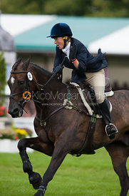 Clare Lewis and Sidnificant - show jumping phase,  Land Rover Burghley Horse Trials, 2nd September 2012.