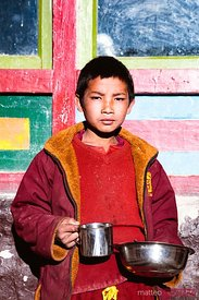 Young monk, Lo Manthang, Upper Mustang, Nepal