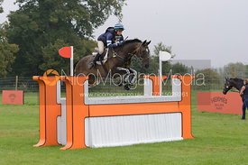 Clare Lewis and SIDNIFCANT - cross country phase,  Land Rover Burghley Horse Trials, 6th September 2014.
