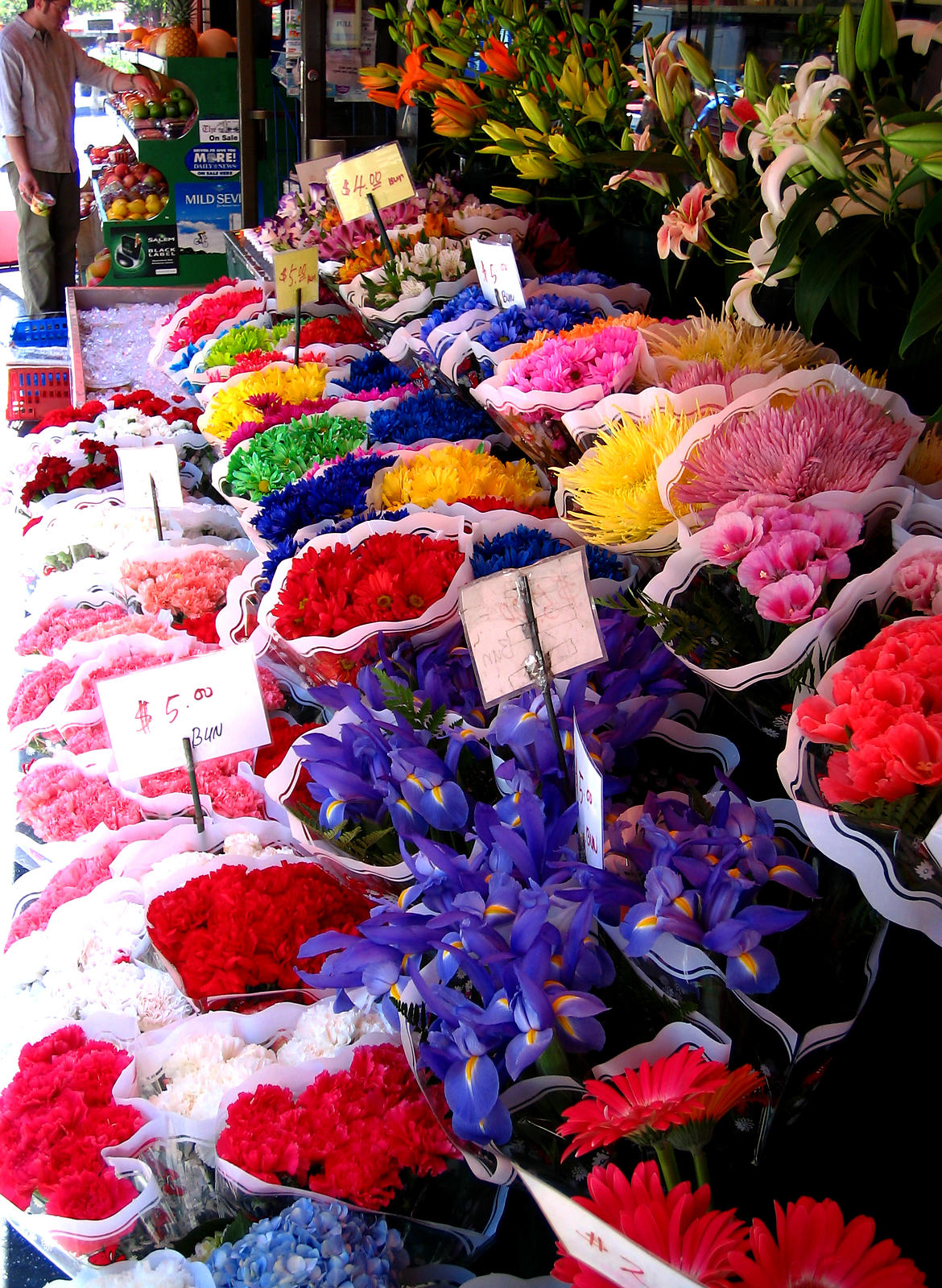 New York City flower stand