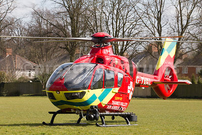 The Airbus H135 Thames Valley Air Ambulance