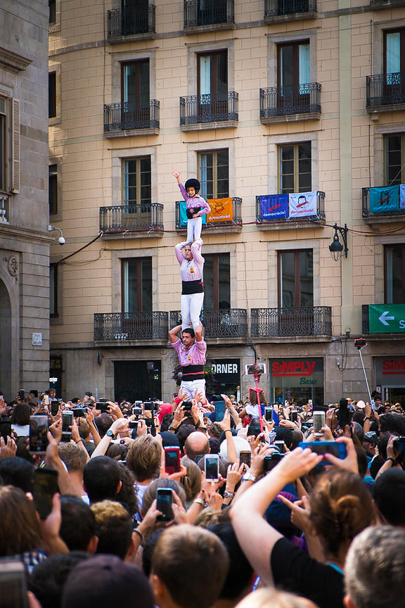Castellers (Human Towers) - La Merce Festival - Barcelona, Spain
