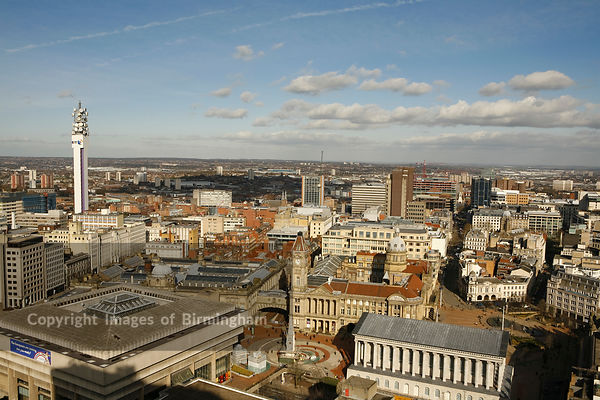 Birmingham City Centre cityscape, England, Uk