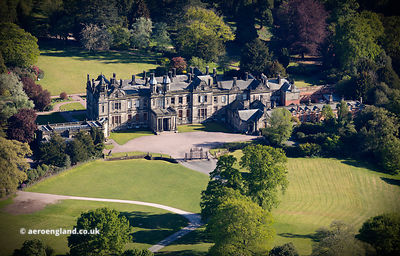 Sandon Hall Staffordshire  from the air