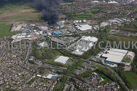 Oldham aerial photograph of  Salmon Fields Royton