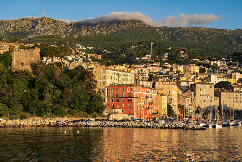 Buildings ASurrounding the Yacht Basin at Bastia