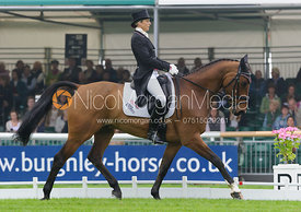 Sarah Bullimore and VALENTINO V - dressage phase,  Land Rover Burghley Horse Trials, 4th September 2014.