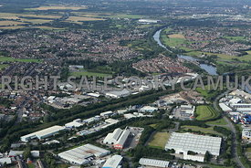 Irlam Northbank Industrial Estate looking towards Fairhills Industrial Estate and Port Salford