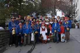 Chalandamarz Traditional Childdrens Event in Saint St. Moritz