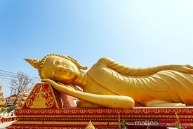 Reclining Buddha statue, Pha That Luang, Laos