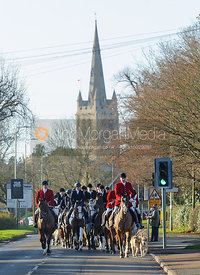 The Cottesmore Hunt leaves Oakham after their Boxing Day Meet 26/12