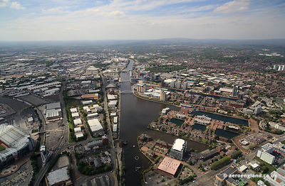 Salford Quays aerial photograph
