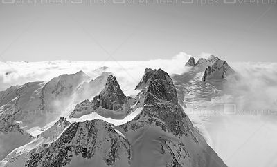 Black and White of Bugaboo Provincial Park Selkirk Range Canada