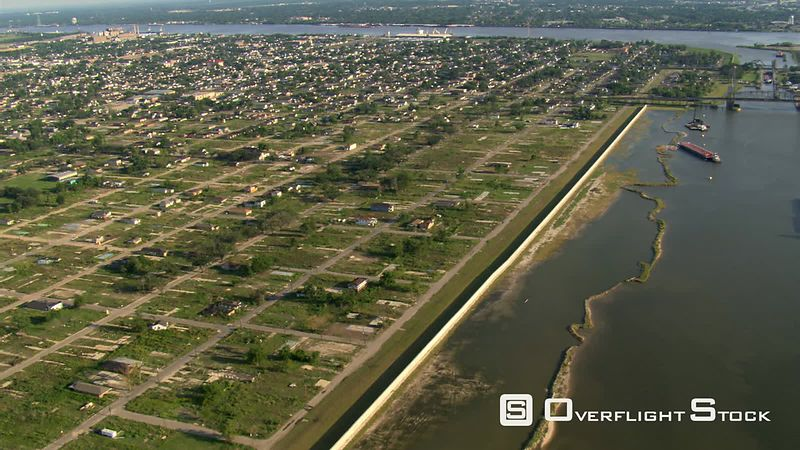 Few remaining houses in 9th Ward, New Orleans, Louisiana after Hurricane Katrina