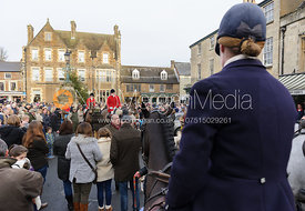 The Cottesmore Hunt gather in Uppingham