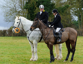 At the meet - The Cottesmore Hunt at Castle Bytham